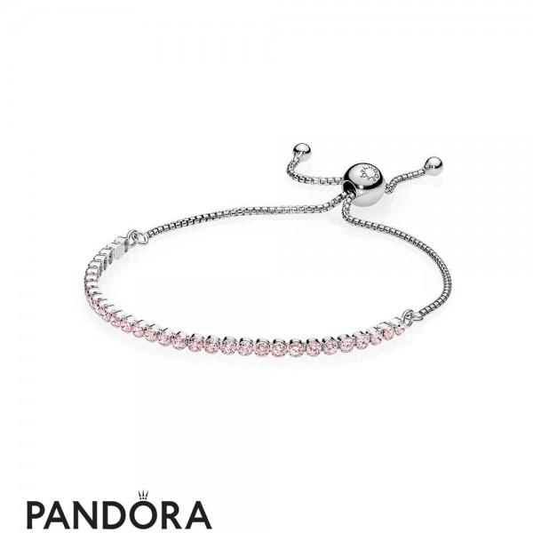 Pandora Bracelets Classic Pink Sparkling Strand Bracelet Pink Cz Jewelry
