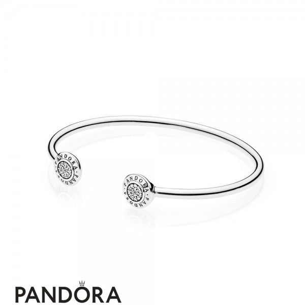 Women's Pandora Bracelets Open Banglepandora Signature Bangle Bracelet Jewelry