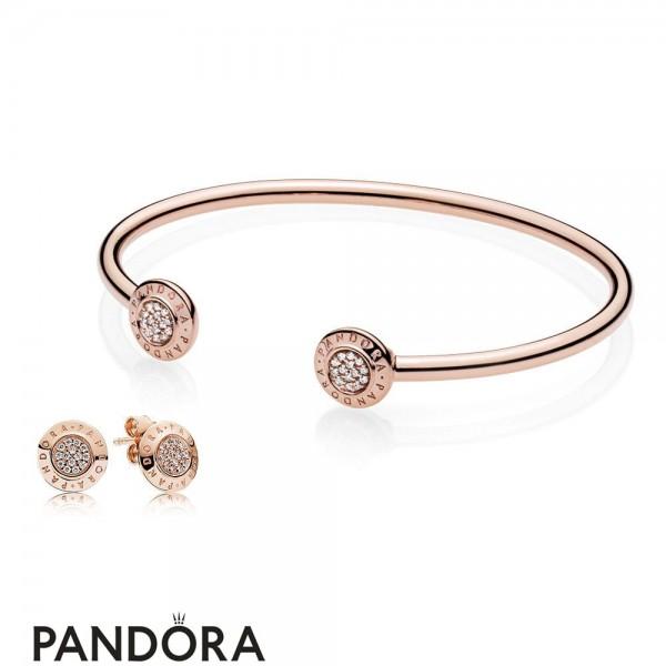 Pandora Rose Jewelry Signature Bangle And Earring Gift Set Jewelry