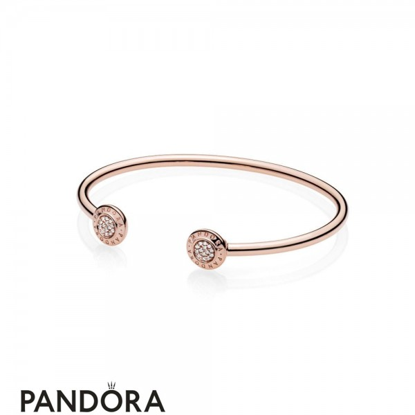 Women's Pandora Rose Signature Open Bangle Jewelry