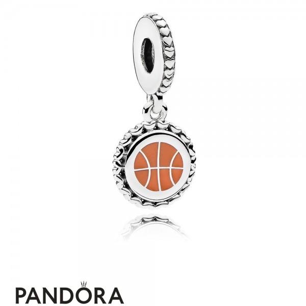 Women's Pandora Basketball Dangle Charm Mixed Enamel Jewelry