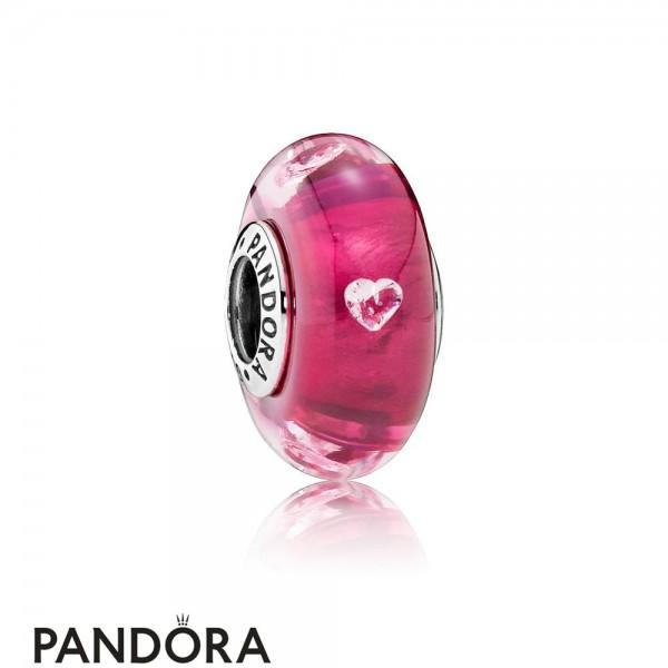 Women's Pandora Cerise Murano Glass Charm Jewelry
