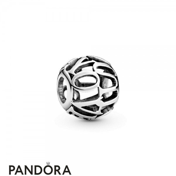 Women's Pandora Charm Inscription I Love You Openwork Jewelry