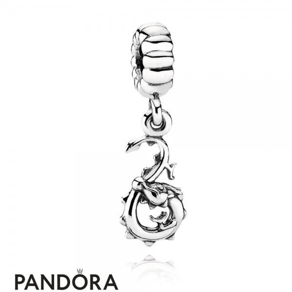 Women's Pandora Chinese Zodiac Dragon Pendant Charm Jewelry