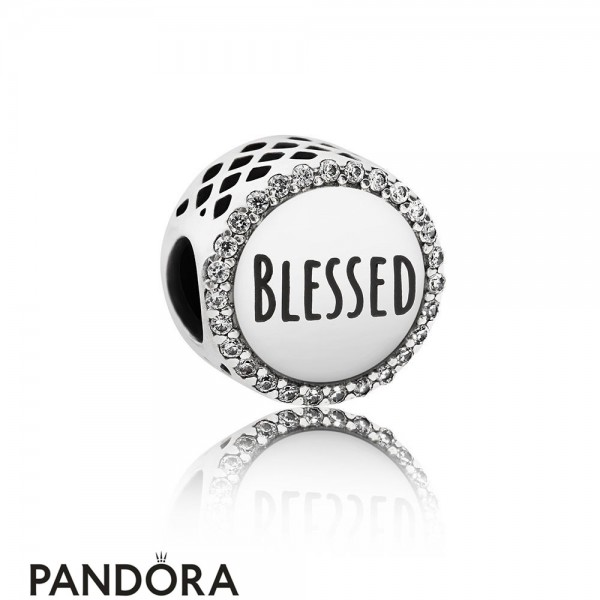 Pandora Contemporary Charms Blessed Charm Clear Cz Jewelry