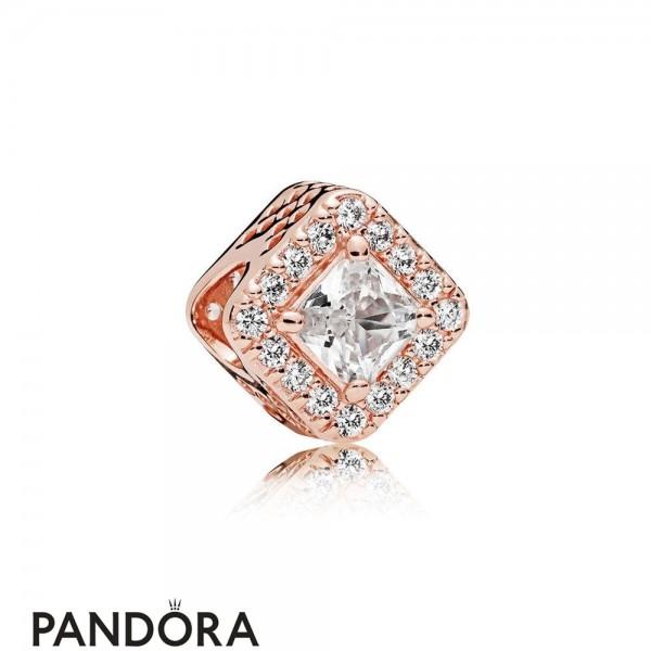 Pandora Contemporary Charms Geometric Radiance Charm Pandora Rose Clear Cz Jewelry