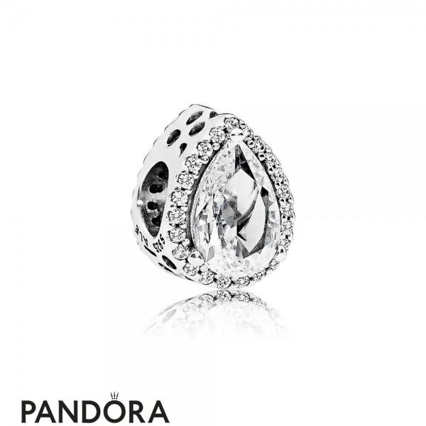 Pandora Contemporary Charms Radiant Teardrop Charm Clear Cz Jewelry