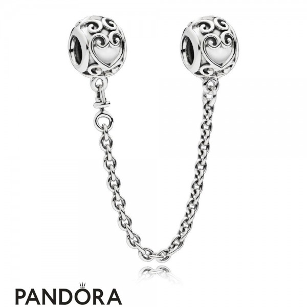 Women's Pandora Enchanted Heart Safety Chain Jewelry Jewelry