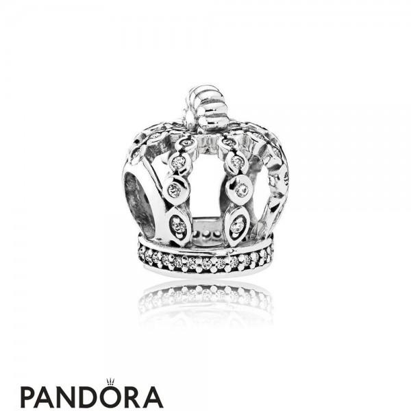 Pandora Fairy Tale Charms Fairytale Crown Charm Clear Cz Jewelry