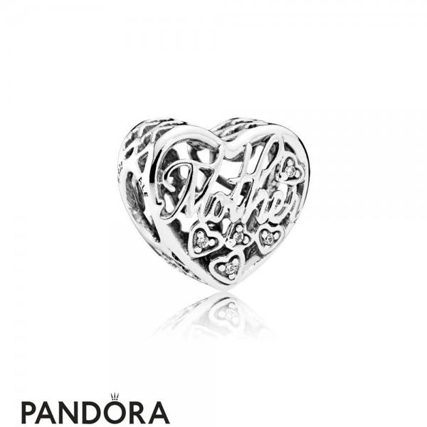 Pandora Family Charms Mother Son Bond Charm Clear Cz Jewelry