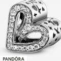 Women's Pandora Glittering Drawn Heart Charm Jewelry