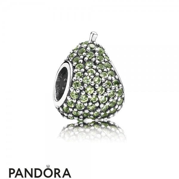 Women's Pandora Green Pave Pear Charm Jewelry