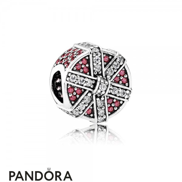 Pandora Holidays Charms Christmas Shimmering Gift Charm Red Clear Cz Jewelry