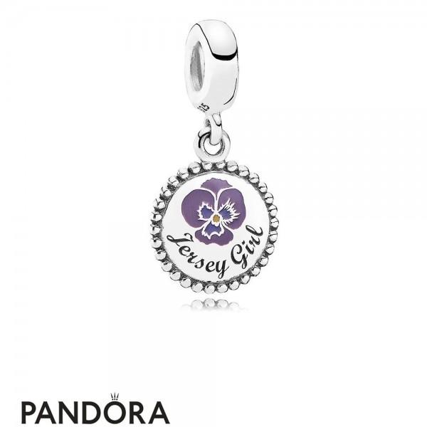 Women's Pandora Jersey Girl Dangle Charm Mixed Enamel Jewelry Jewelry