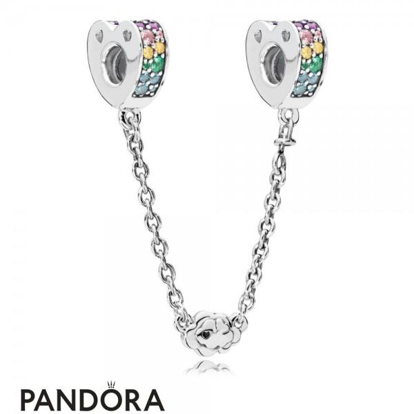 Pandora Multi Colour Arcs Of Love Safety Chain Jewelry Jewelry
