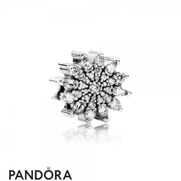 Pandora Nature Charms Ice Crystal Charm Clear Cz Jewelry