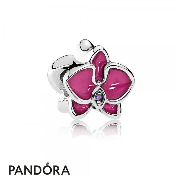 Pandora Nature Charms Orchid Charm Radiant Orchid Enamel Purple Cz Jewelry