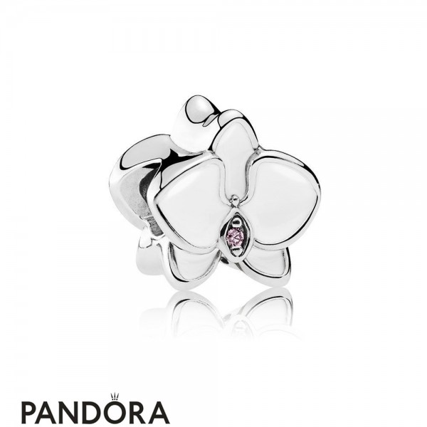 Pandora Nature Charms Orchid Charm White Enamel Orchid Cz Jewelry