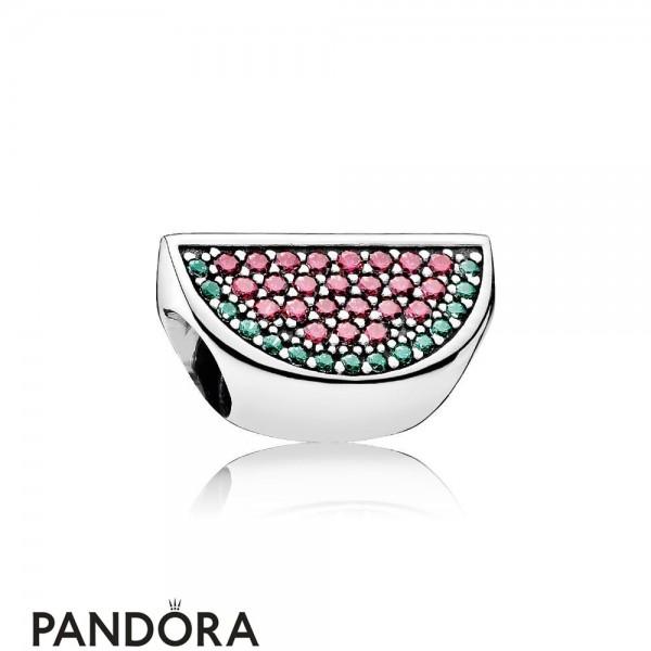 Pandora Nature Charms Pave Watermelon Charm Red Green Cz Jewelry
