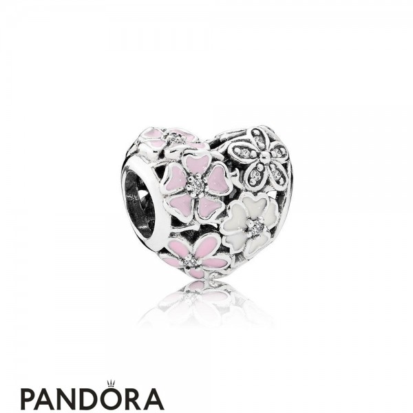 Pandora Nature Charms Poetic Blooms Mixed Enamels Clear Cz Jewelry