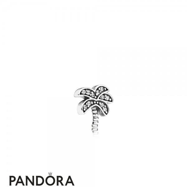 Pandora Nature Charms Sparkling Palm Tree Petite Charm Jewelry