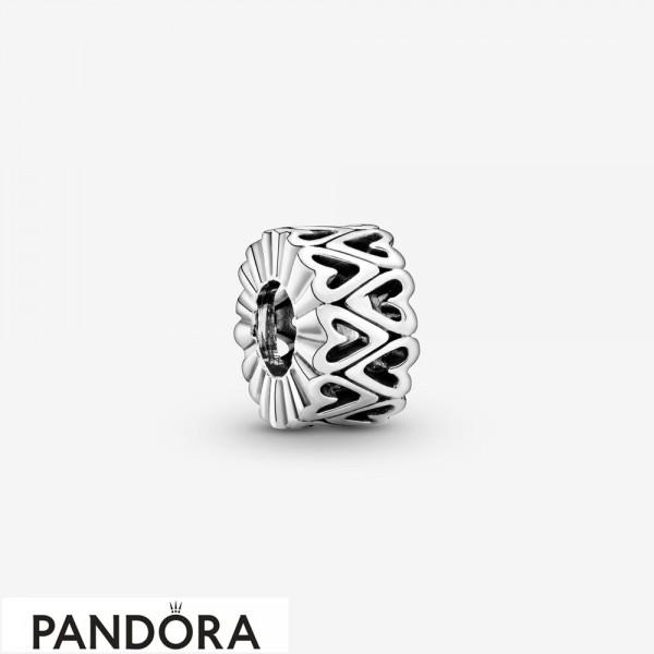 Women's Pandora Openwork Hearts Spacer Charm Jewelry