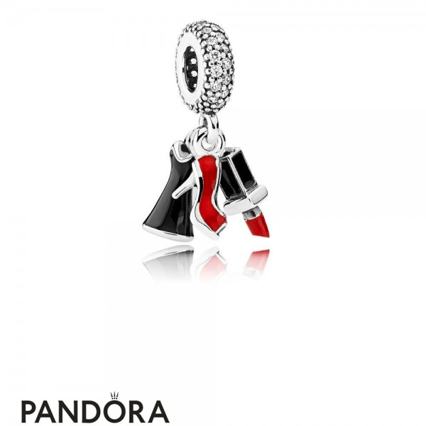 Pandora Passions Charms Chic Glamour Glamour Trio Pendant Charm Mixed Enamel Clear Cz Jewelry