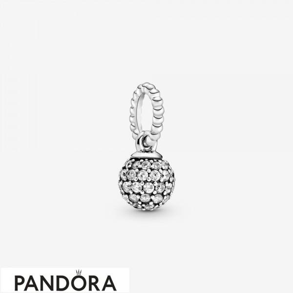 Women's Pandora Paved Ball Pendant Jewelry