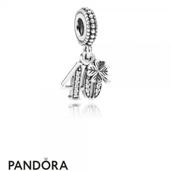 Pandora Pendant Charms 40 Years Of Love Pendant Charm Clear Cz Jewelry