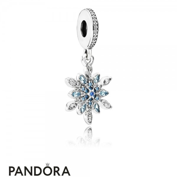 Pandora Pendant Charms Crystalized Snowflake Pendant Charm Blue Crystals Clear Cz Jewelry