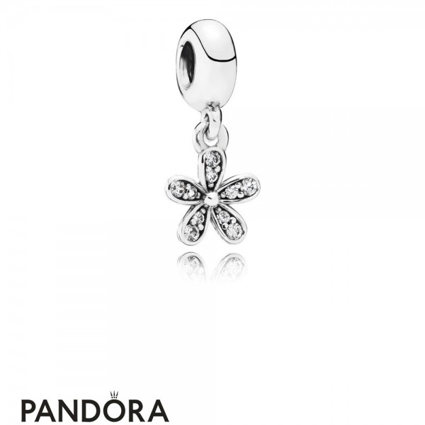Pandora Pendant Charms Dazzling Daisy Pendant Charm Clear Cz Jewelry