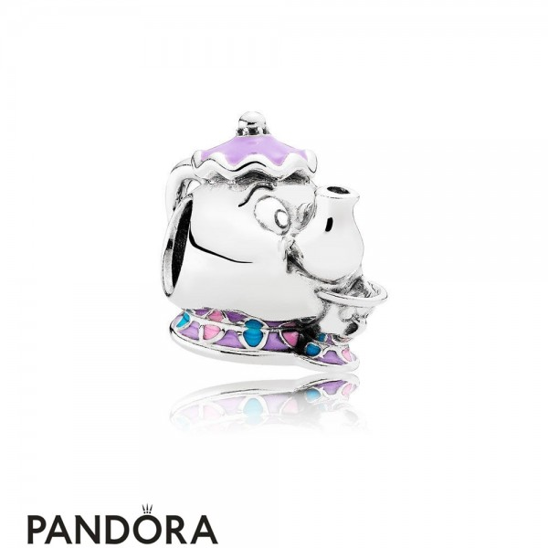 Pandora Pendant Charms Disney Mrs Potts Chip Charm Mixed Enamel Jewelry