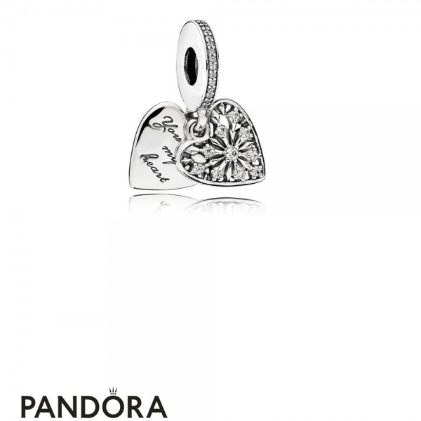 Pandora Pendant Charms Heart Of Winter Pendant Charm Clear Cz Jewelry