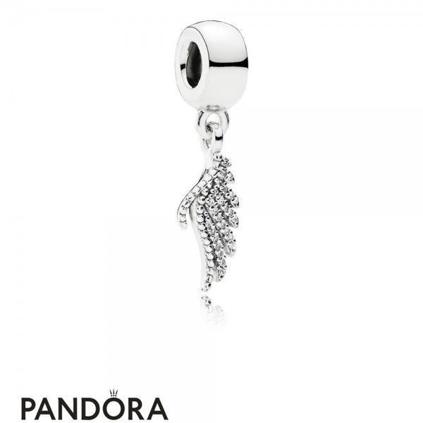 Pandora Pendant Charms Majestic Feather Pendant Charm Clear Cz Jewelry