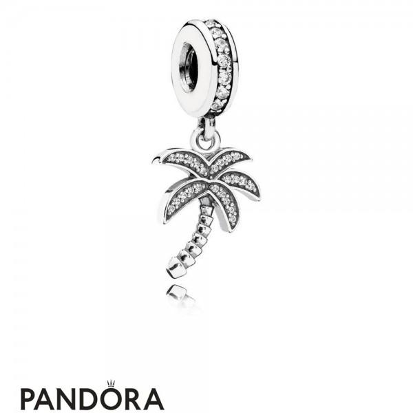 Pandora Pendant Charms Sparkling Palm Tree Pendant Charm Clear Cz Jewelry