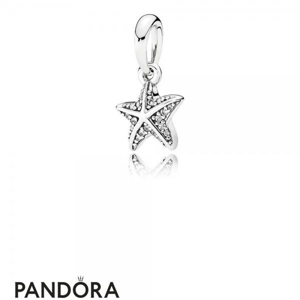 Pandora Pendant Charms Tropical Starfish Pendant Clear Cz Jewelry