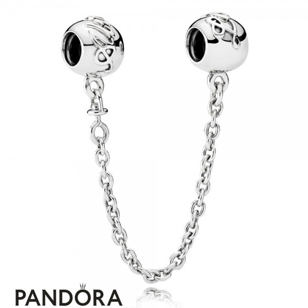 Pandora Safety Chains Pandora 925 Silver Love Forever Safety Chain Jewelry