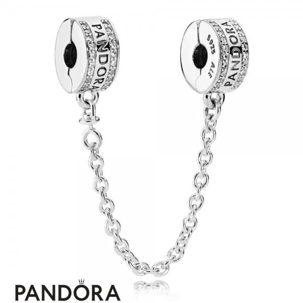 Pandora Safety Chains Pandora 925 Silver Safety Chain Logo Jewelry