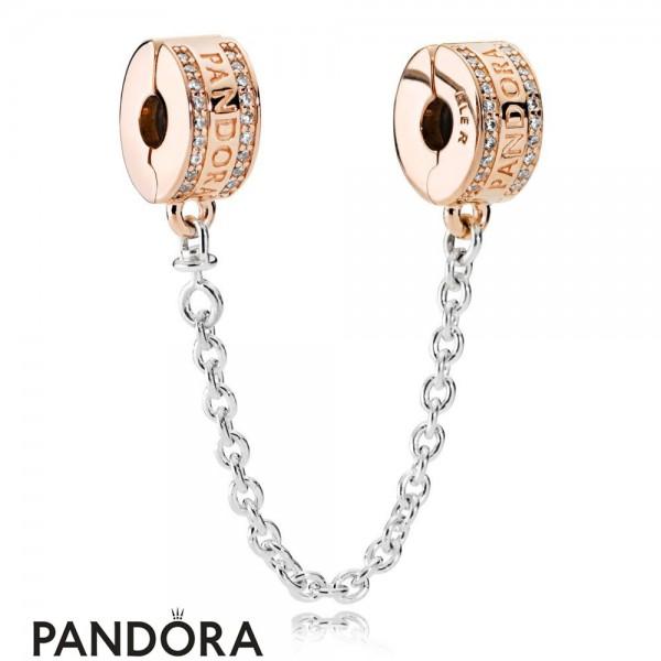 Pandora Safety Chains Pandora Rose Logo Safety Chain God Jewelry