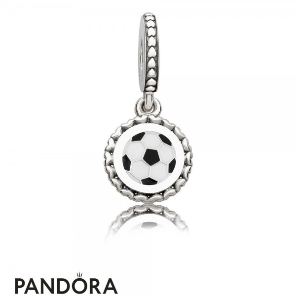 Women's Pandora Soccer Dangle Charm Mixed Enamel Jewelry