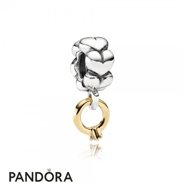 Women's Pandora Solitaire Ring Silver Dangle With 14K Diamond Jewelry