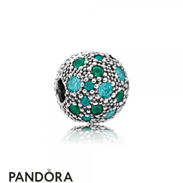Pandora Sparkling Paves Charms Cosmic Stars Multi Colored Crystals Teal Cz Jewelry