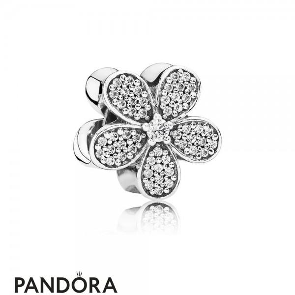 Pandora Sparkling Paves Charms Dazzling Daisy Charm Clear Cz Jewelry
