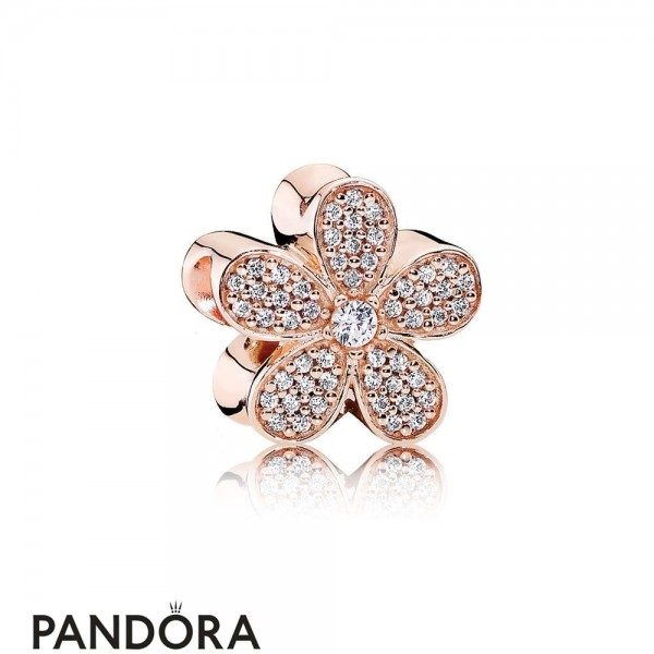 Pandora Sparkling Paves Charms Dazzling Daisy Charm Pandora Rose Clear Cz Jewelry