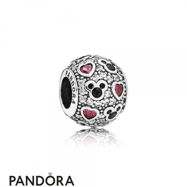 Pandora Sparkling Paves Charms Disney Sparkling Mickey Hearts Charm Clear Cz Jewelry