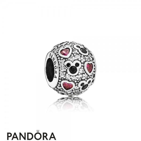 Pandora Sparkling Paves Charms Disney Sparkling Mickey Hearts Charm Clear Cz Jewelry