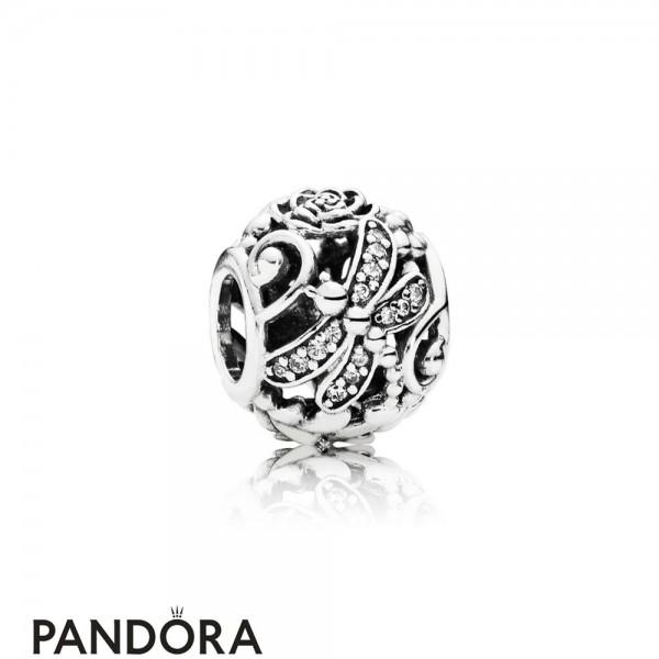Pandora Sparkling Paves Charms Dragonfly Meadow Charm Clear Cz Jewelry