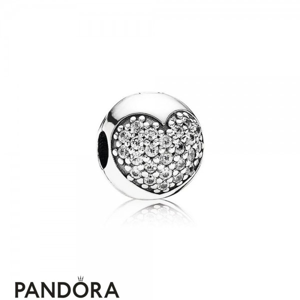 Pandora Sparkling Paves Charms Love Of My Life Clip Clear Cz Jewelry
