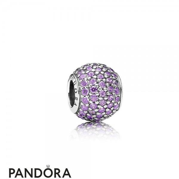 Pandora Sparkling Paves Charms Pave Lights Charm Fancy Purple Cz Jewelry
