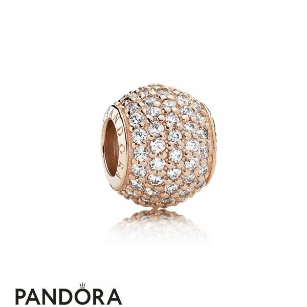 Pandora Sparkling Paves Charms Pave Lights Pandora Rose Clear Cz Jewelry